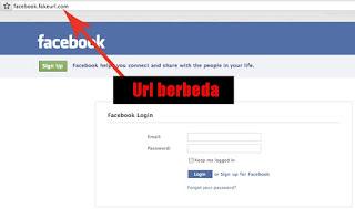 facebook phishing fake login