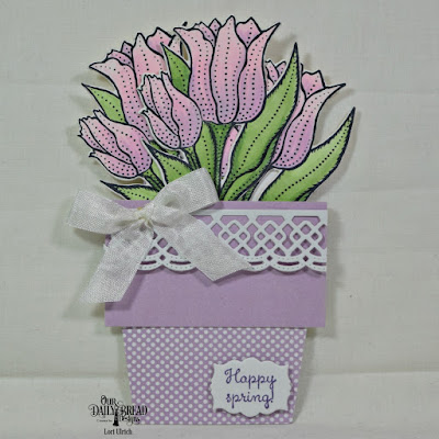 Our Daily Bread Designs Stamp Set: Tulips, Custom Dies:Tulip, Mini Labels, Beautiful Borders, Fun & Fancy Folds Card Kit: Flower Pot, Paper Collection: Pastel