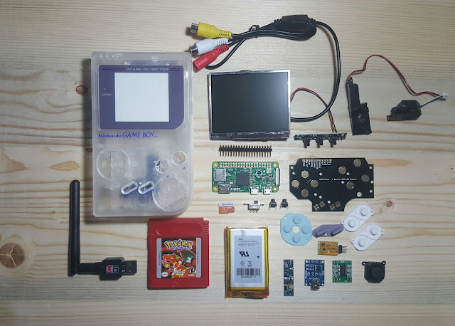 GameBoyZero, piezas, materiales