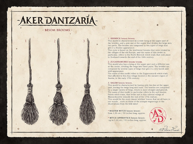 Aker Dantzaria Witch Broomsticks Besom Brooms by Victoria Francés