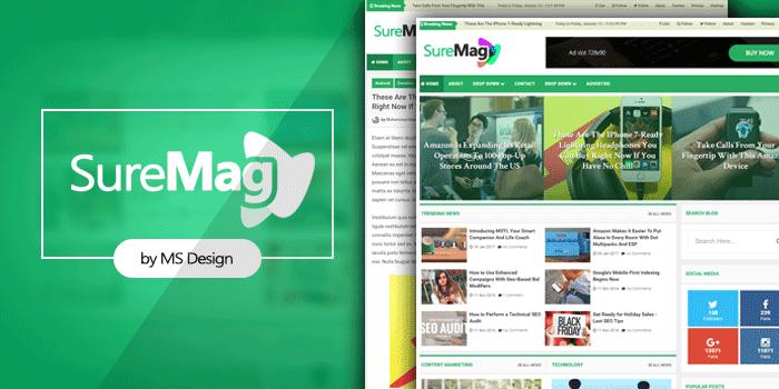 Sure-mag-magazine-blogger-template 2017