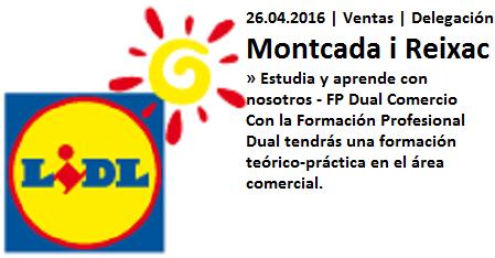 Lanzadera de Empleo Virtual Barcelona, Oferta Lidl, Montcada i Reixac