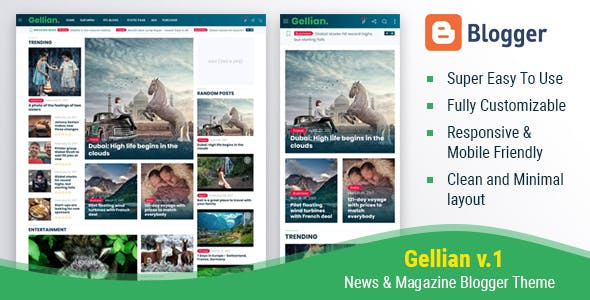Gellian - News & Magazine Blogger Theme