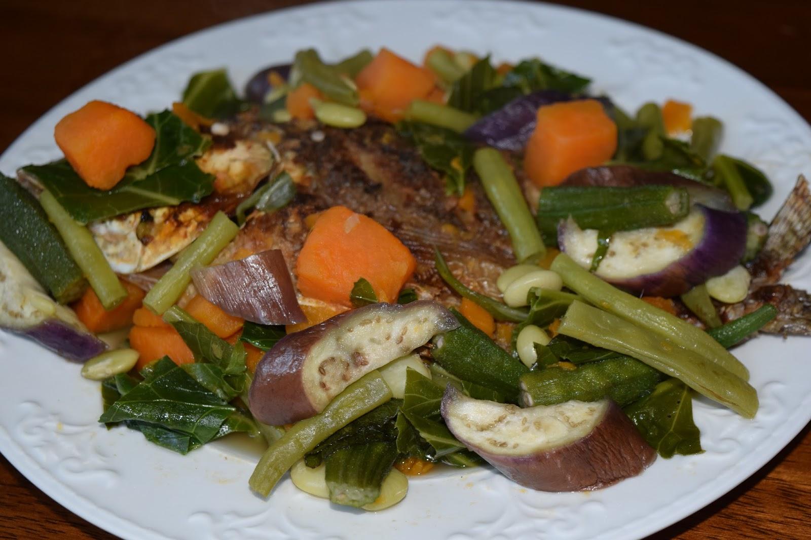 Filipino Food Aficionado: Dinengdeng or Inabraw (Mixed ...