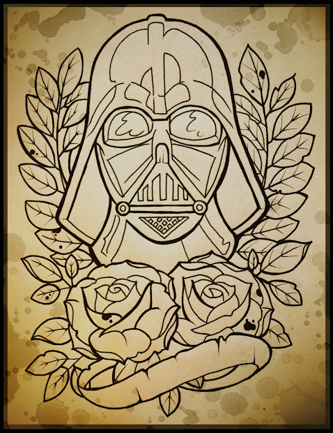 Darth Vader Tattoo Flash Art