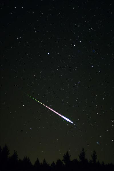 meteoro da chuva Leonidas 2009