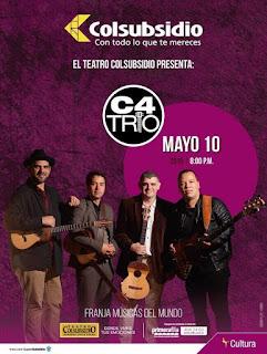 Concierto de C4 TRÍO en Bogotá 2019 | Teatro Colsubsidio