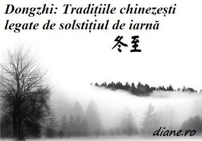Tradițiile chinezești legate de solstițiul de iarnă Dongzhi