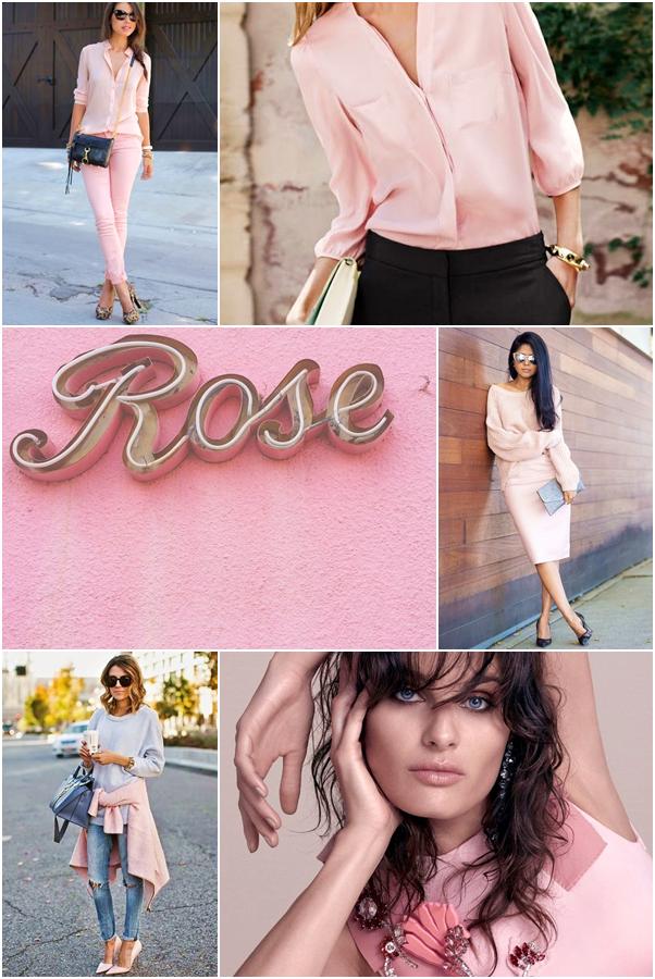 A Cor do Ano 2016: Rose Quartz Rosa Pantone Look do Dia Moda Roupa Acessórios