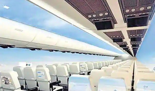 Gli aerei senza finestre daranno ai passeggeri una vista panoramica del cielo
