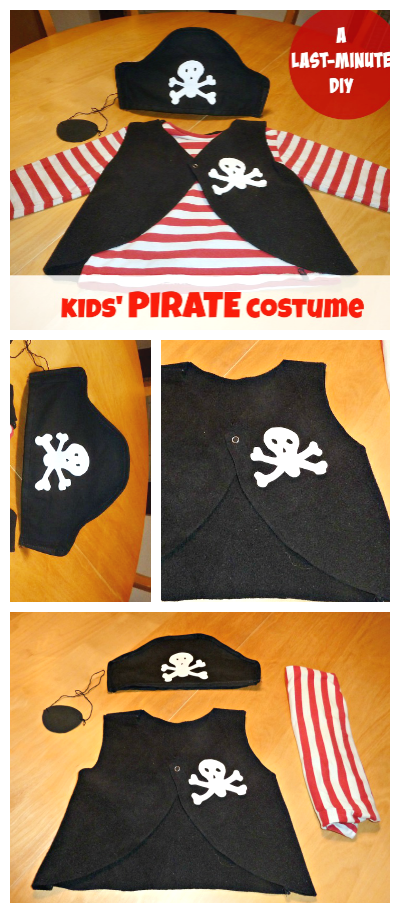 How to make a pirate costume for kids last minute diy applegreen diy pirate halloween costume for your toddler if your kid still hasnt got solutioingenieria Image collections