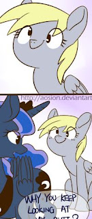 https://derpicdn.net/img/view/2014/9/8/718033__safe_artist-colon-sion_derpy+hooves_princess+luna_comic_cute_female_looking+back_mare_moonbutt_mooning_open+mouth_pegasus_pony_pun_smiling.png