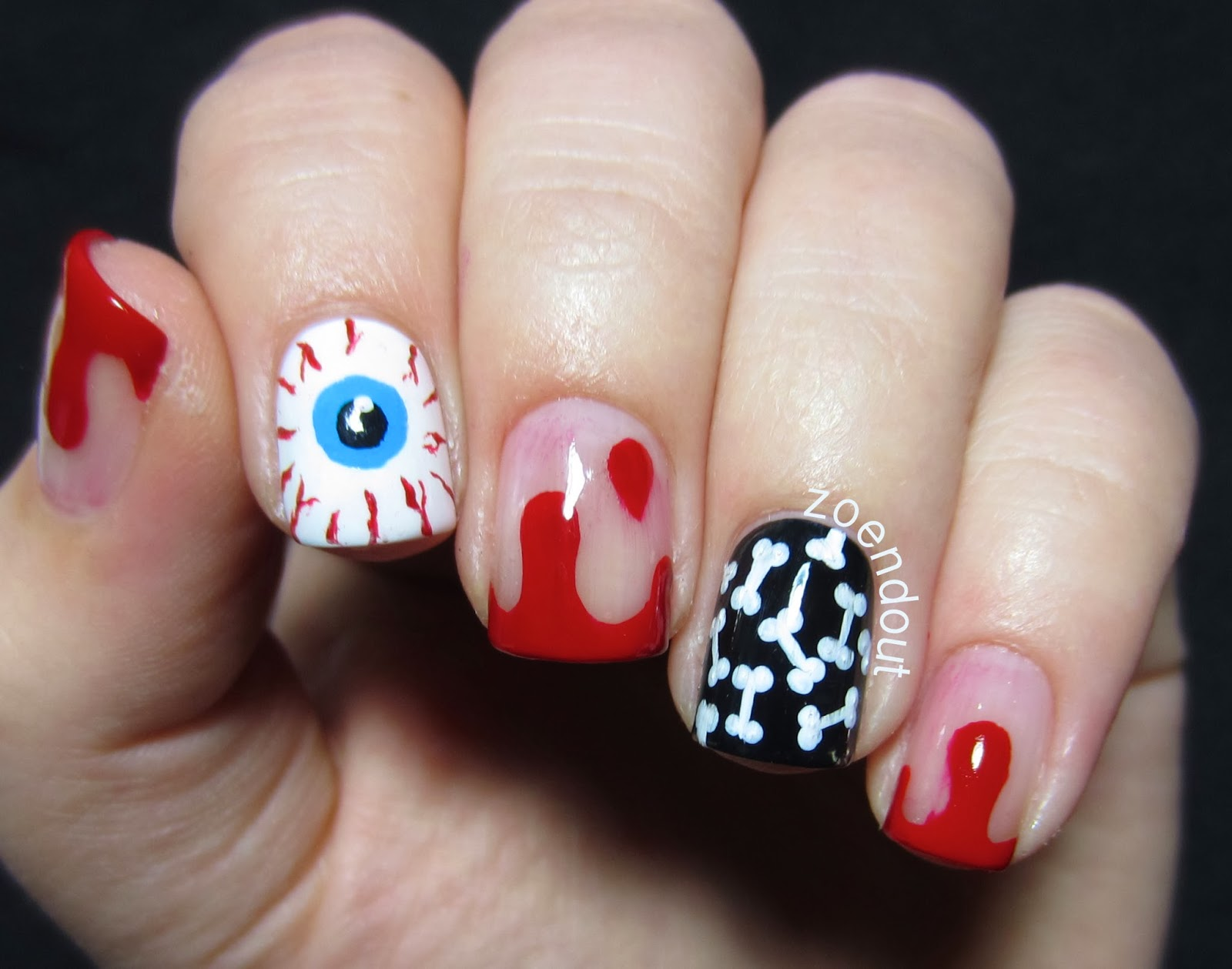 Zoendout Nails: Halloween Mix and Match