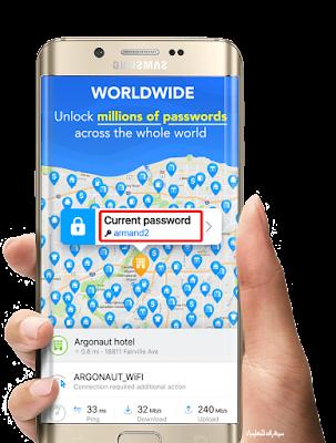 معرفة كلمات سر الشبكات بسهولة - تحميل برنامج wifi map