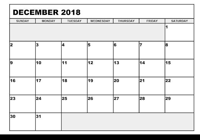 December 2018 WORD