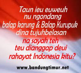 BBM Sunda HUT RI
