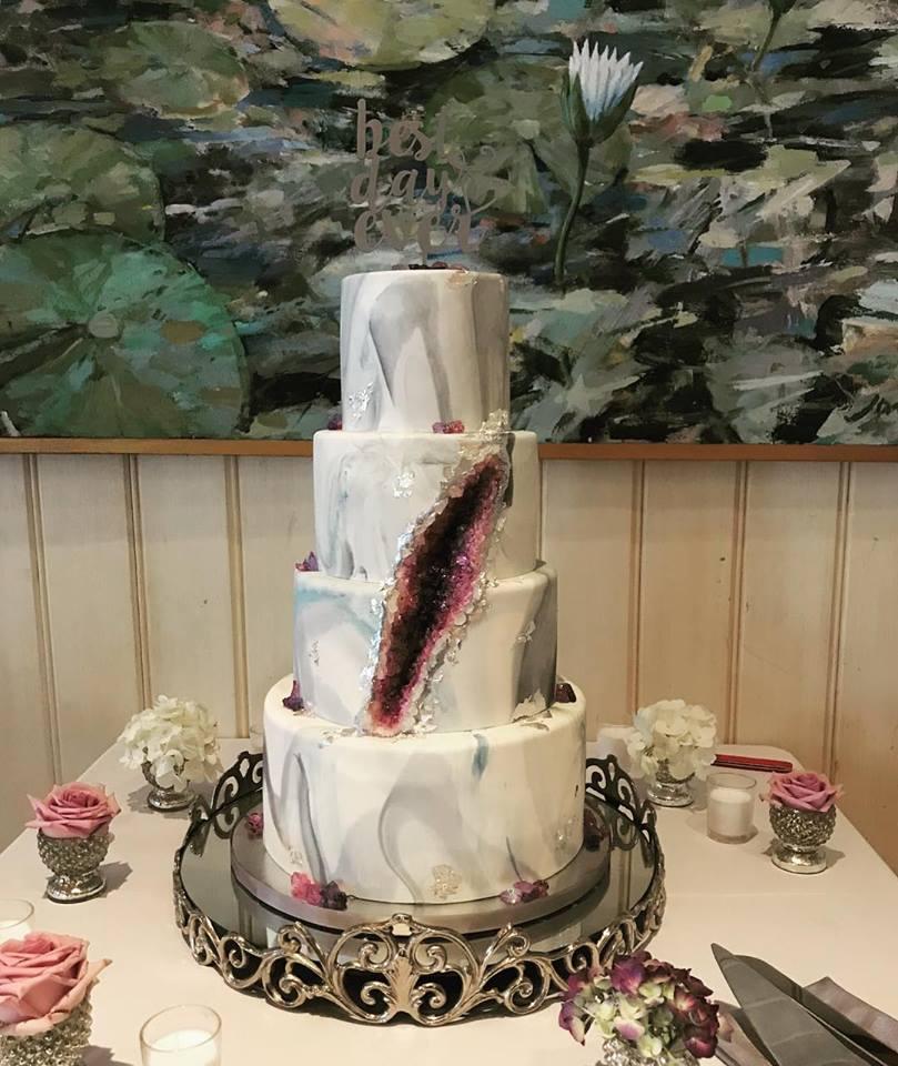 Geode Wedding Cake.My First Real Geode Wedding Cake