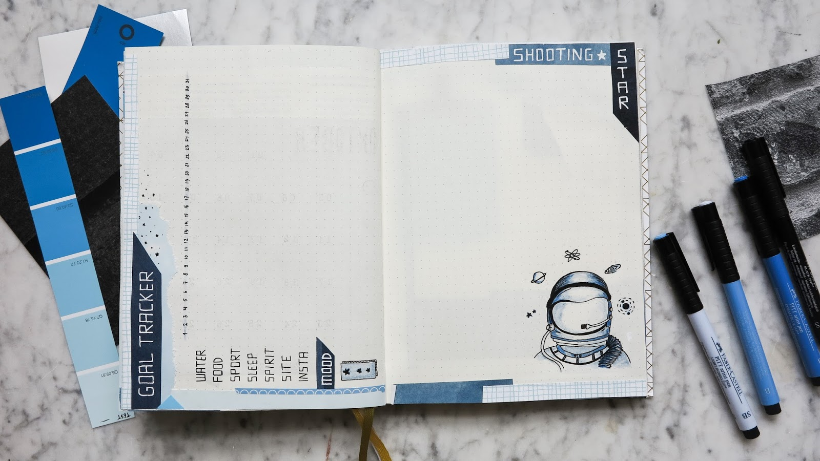 Bullet Journal Plan with me oktober 2017