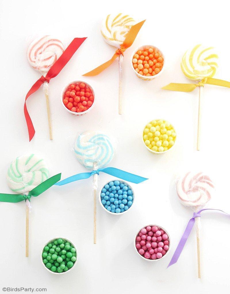 Rainbow Tablescape & DIY Balloon Garland - Party Ideas | Party ...