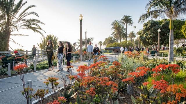 Tour pelo Parque Palisades Park em Santa Mônica