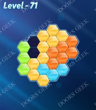 Block! Hexa Puzzle [5 Mania] Level 71 Solution, Cheats, Walkthrough for android, iphone, ipad, ipod