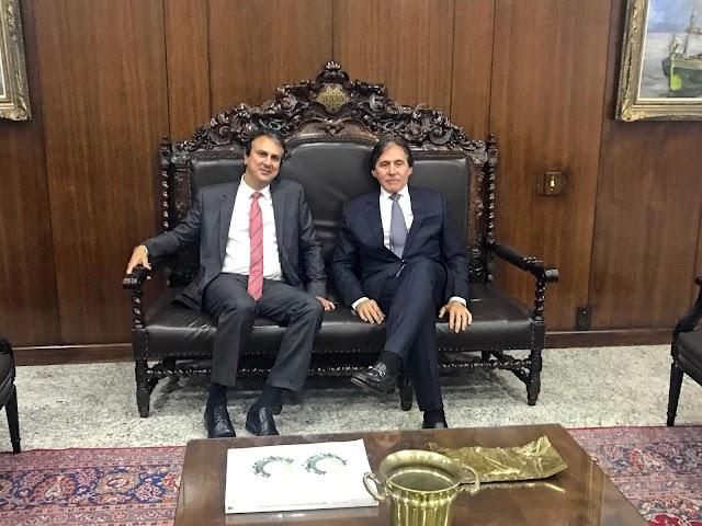 Brasília: governador reforça implantação do Centro de Inteligência da PF no Ceará e garante liberação de recursos para Cinturão das Águas