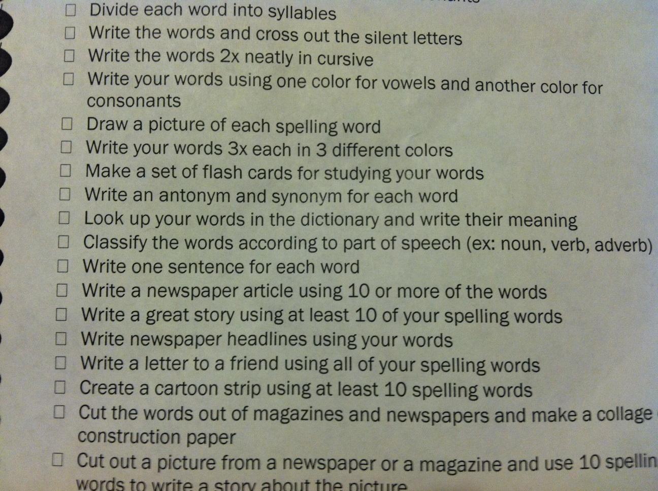 Scanned School Worksheets