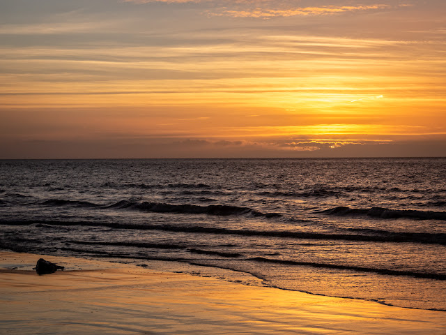 Photo of the Solway Firth sunset on Tuesday