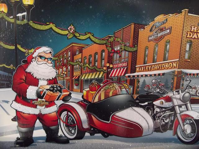 Motoblogn: Santa Rides A Motorcycle Christmas Card Collection