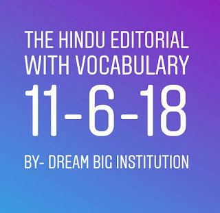 The Hindu Editorial With  Important Vocbulary