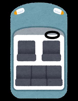 いろいろな車の席のイラスト(席次)