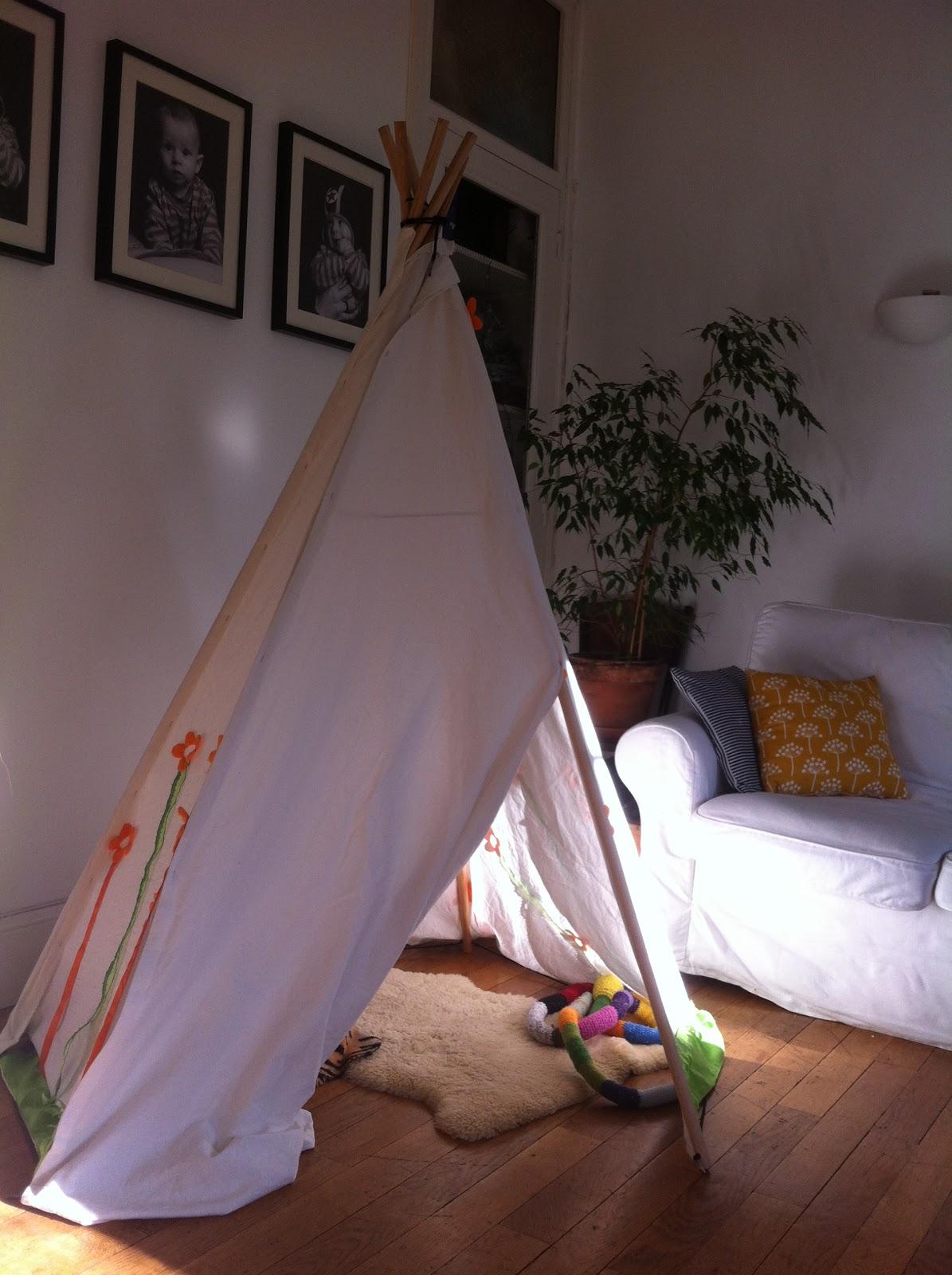 tipi kinderzimmer selber bauen indianer tipi zelt f rs kinderzimmer selber bauen kreative ideen. Black Bedroom Furniture Sets. Home Design Ideas