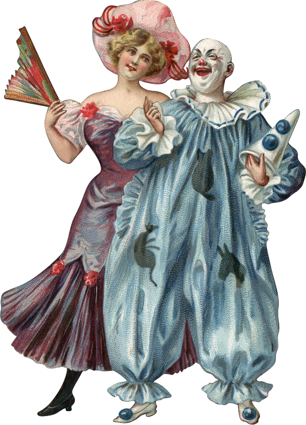 Woman and clown
