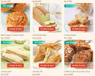 Harga Cake Holland Bakery Delivery Terbaru