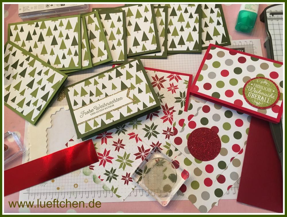 Weihnachtskarten Büro.Lüftchen Basteln Mit Papier Und Stempeln Weihnachtskarten 2016