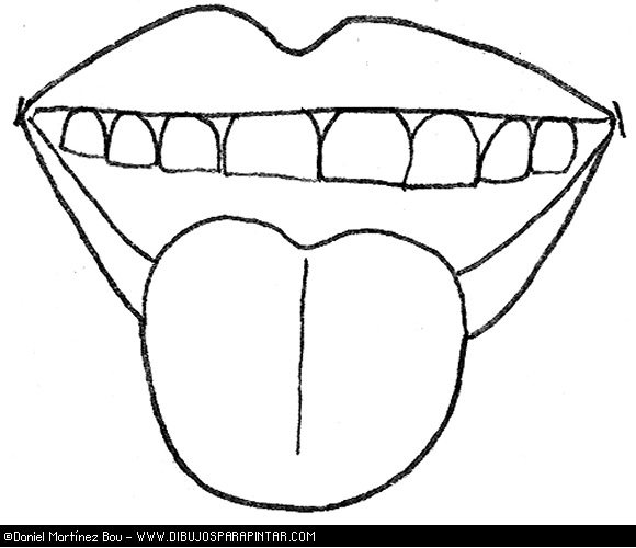 Tongue And Mouth Coloring Page Coloring Pages