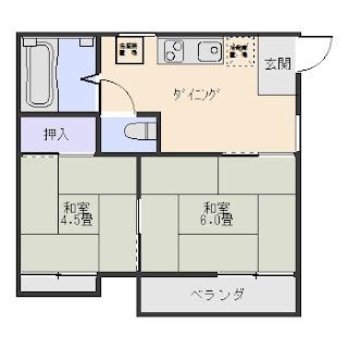 リバーハイツ101 1K 増尾8丁目