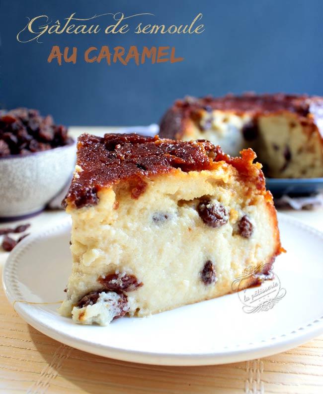 gâteau de semoule caramel