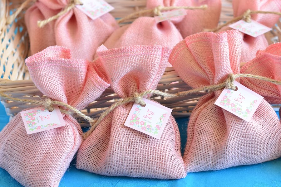 Bolsitas de olor detalles de boda para invitados