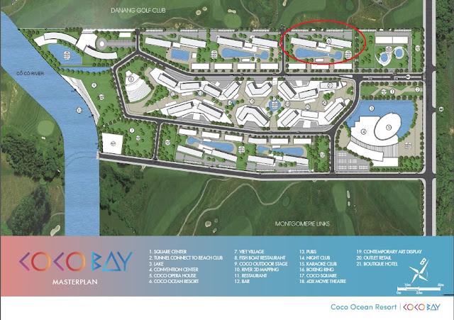 Vị trí dự án Cocobay Ocean Resort - view biển toàn phần Đà nẵng