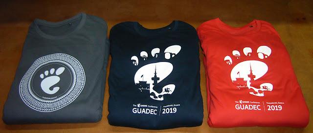 GUADEC T-shirts