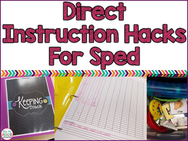 Direct instruction is a crucial component of special education programs. Our students require direct instruction in order to learn, master and generalize skills. Here are some tips to help make your direct instruction time easier.