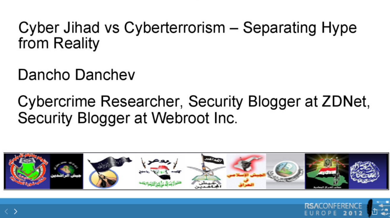 Dancho Danchev - Security Presentation