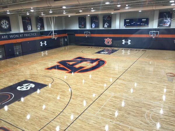 Auburn Arena practice court 2016