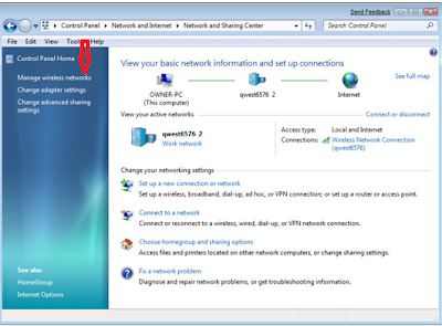 Share Internet Connection in Windows 7