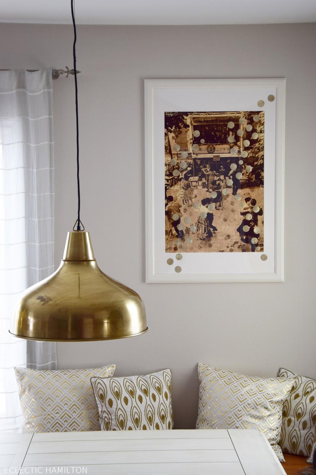 Wanddeko DIY selbermachen: Bilder mit Punkten verschönern in 30 Minuten. Schnell und einfach