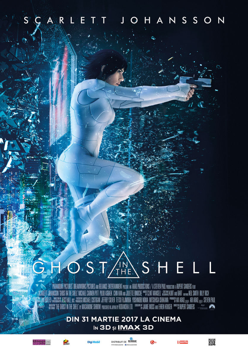 Ghost in the shell, un film cu Scarlett Johansson, rol principal, roboti, cinema city romania, cinema city, cinematograf, filme noi, filme 2017, filme bune, cele mai bune filme 2017