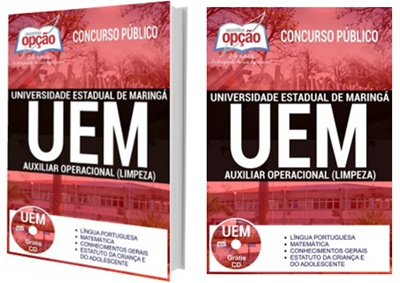 Apostila UEM 2017 para o cargo de Auxiliar Operacional (Limpeza).