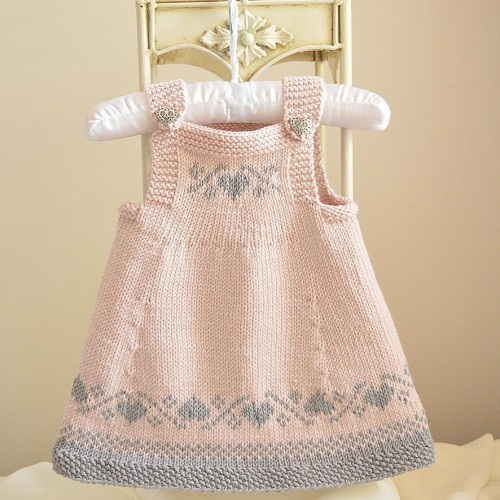 Luv U Forever Pinafore Dress - Knitting Pattern