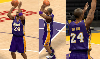 NBA 2K13 Lakers Purple Away Jersey Mod
